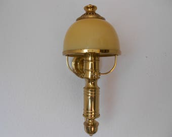Vintage Wall lamp with glass shade,