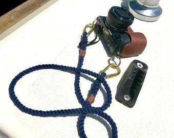 Nautical Camera Strap - Cotton Rope camera strap, Camera Neck Strap, Rope Camera Strap