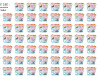 Laundry Basket Stickers (planner stickers)