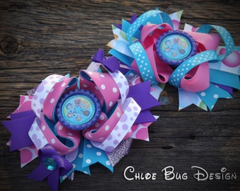 Bubble Guppies Boutique Hair Bow Bubble Guppies Birthday Ready To Ship