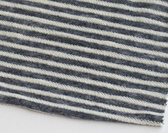 "French Terry Stripes Cotton Polyester Knits 66"" Wide 
