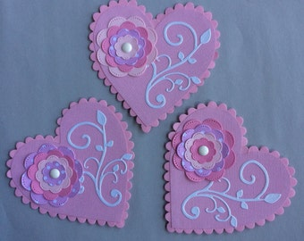 Quilled Valentine Cards set of 3