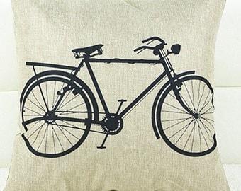 Bike Pillow, Bicycle Pillow, Pillow Case, Bike, Bicycle