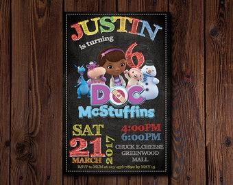 Doc McStuffins Invitation , Doc McStuffins Birthday Invitation , Doc McStuffins Party , Doc McStuffins Printables , DIGITAL FILE