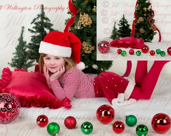 DIGITAL Background for Christmas, children, babies, photo prop, photography, photographers: Christmas Ornaments