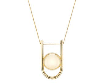 Pregnancy Necklace - Yellow gold plated