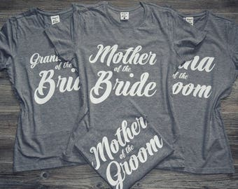 Mother-of-the-Bride Shirt, Mother-of-the-Groom Shirt, Mother of the Bride T-Shirt Top, Mother of the Groom T-Shirt Top, Tee Shirt Crew Neck
