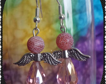 Light Pink Angel Wing Earrings