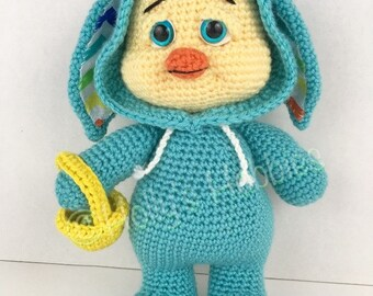 CROCHET PATTERN: Easter PJ Pals Chester Chick