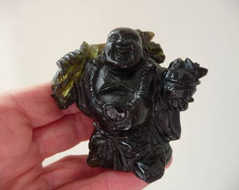 Extraordinary Green Tourmaline Buddha Carving From Thailand 1125 Cts