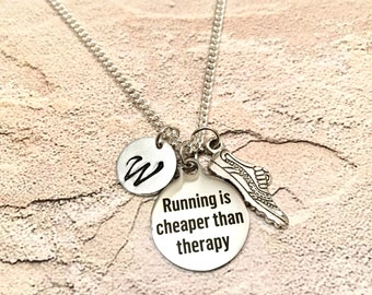 Running shoe Necklace, Track necklace, Cross Country necklace, running necklace, Charm Necklace, Running Shoe