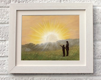 You are my Sunshine,Fine Art, Giclee Mounted Print, UK Seller.