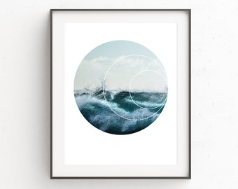 Sea Print, Wave Print, Wave Art, Surf Photography, Sea Art, Sea Wall Art, Nature Photography, Surf Print, Instant Download Art