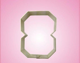 Varsity Number 8 Cookie Cutter