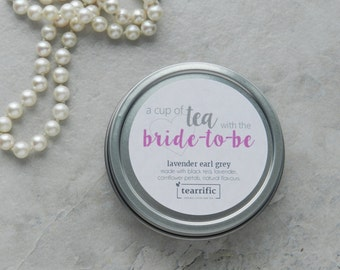bridal shower favor tea party favour cup of tea with the brideto