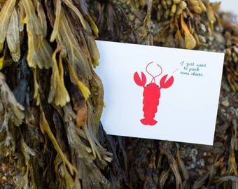 Cute Baby Lobster Card | I Just Want to Pinch Some Cheeks!