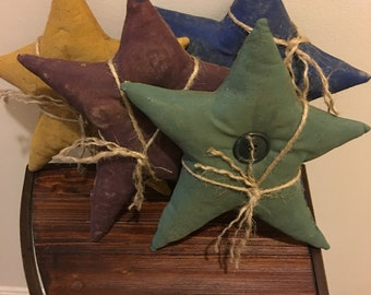 Primitive Handcrafted Painted Star