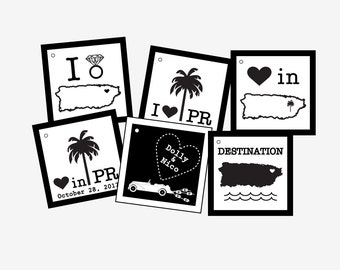 Puerto Rico Destination Gift Tags Set of 6
