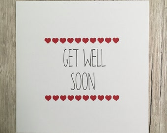 Handmade Get Well Soon card