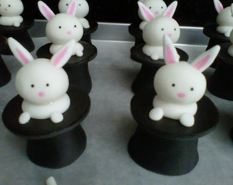 Magic Bunny Edible Cupcake Toppers