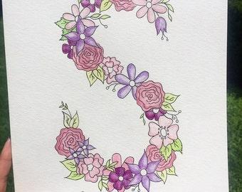 Custom Flower Letter