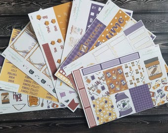 Peanut butter and jelly - pb&j - weekly kit - Erin Condren Stickers - Planner Stickers 95