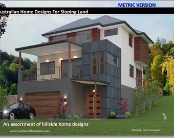 BEST SELLING PLANS - Hillside House Floor Plans - Over 50 Homes Designs Australian and International Home Plans home plans for sloping land