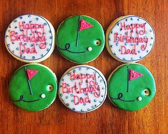 One Dozen - Golf Cookies - Father's Day Gift - Dad Birthday Present