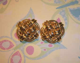 "Vintage Gold tone Sailor's Knot Shoe clips,Nautical knot,1"",clip on shoes"