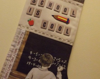School is Cool stocking