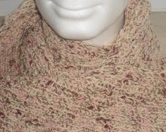 Long fluffy scarf - Handmade - wool scarf - knit scarf