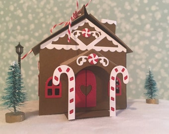 Gingerbread House, Gingerbread Treat Box, Gingerbread Gift Box