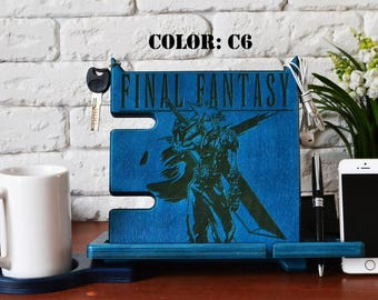 Final Fantasy vii wood stand final fantasy 7 sephiroth cloud ff7 ffvii cloud strife tifa print video game poster geek chocobo nerd rpg