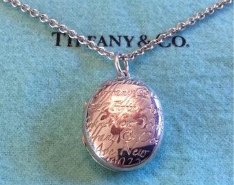 Tiffany & Co Sterling Silver Locket
