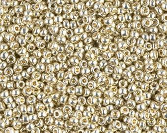 11/0 Duracoat Galvanized Silver D4201 - Miyuki Round Seed Bead 10g