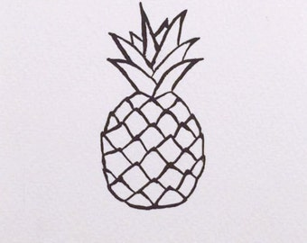 UNFRAMED - Pineapple // gifts for her // gifts for him // home decor // wall art
