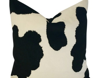 Cowhide pillow cover Etsy