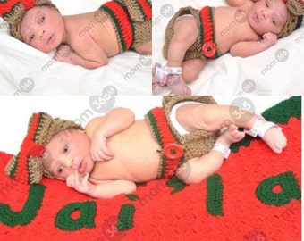 Gucci inspired baby/newborn girl crochet outfit/baby shower gift/photo prop/ first photo