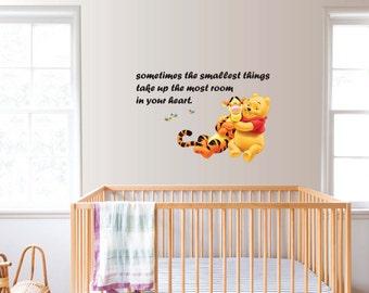 Wall Sticker Decal Winnie The Pooh and Tiger Children Bedroom Daycare Home Decor DIY Removable Vinyl