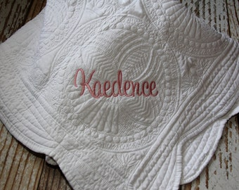 Small Embroidered Quilt
