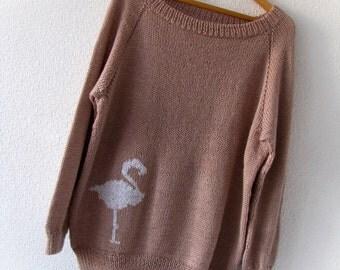 Oversized handknit sweater Wabi Sabi style wool sweater Plus size sweater XL sweater Loose knit sweater Soft sweater Cozy sweater