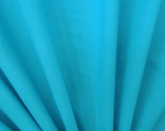 "Aqua Blue Cotton Fabric, Home Decor Fabric, Dress Material, Indian Fabric, 45"" Inch Apparel Fabric By The Yard ZBC7557A"