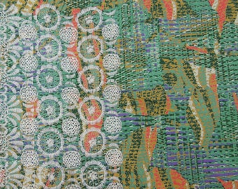 """Decor Fabric, Floral Embroidery, Printed Fabric, Sewing Crafts, Quilting Fabric, 38"""" Inch Cotton Fabric By The Yard ZBC7639A"""