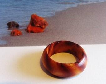 Elegant wood wooden Ring 1.0 gr. gift  for teens  adult women men ecological  medical noallergic