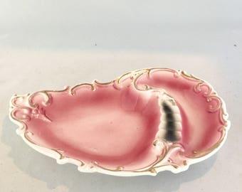 Vintage Pink Scalloped Shell Ashtray