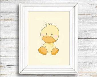 Nursery art, Duck print, Digital Download Print,  Wall decor, animal print, Instant download, Wall art, Home decor