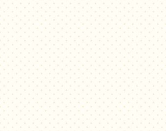 Cream Swiss Dots on Cream Le Creme by Riley Blake Designs - Tone on Tone Polka Dot - Quilting Cotton Fabric - choose your cut