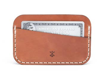 Simple Wallet - Cordovan Whiskey | Horween® Shell Cordovan Vegetable Tanned Leather | Made in USA