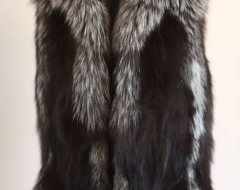 Luxury gift/Silver Fox Fur Vest/Wedding,or anniversary present