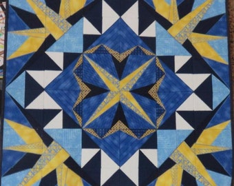 Star quilted wallhanging
